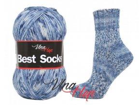 Ponožková příze Vlna-Hep Best Sock 7108, 75% vlna, 25% polyamid, 100g