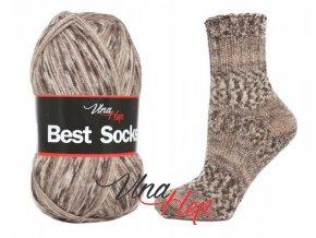 Ponožková příze Vlna-Hep Best Sock 7109, 75% vlna, 25% polyamid, 100g