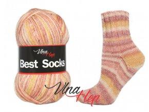 Ponožková příze Vlna-Hep Best Sock 7114, 75% vlna, 25% polyamid, 100g