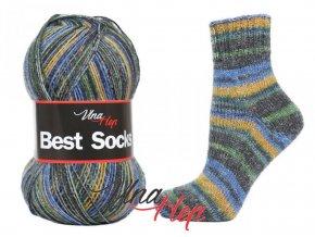Ponožková příze Vlna-Hep Best Sock 7117, 75% vlna, 25% polyamid, 100g