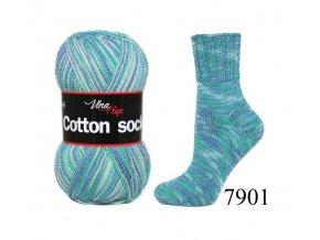 Ponožková příze Vlna-Hep Cotton Sock 7901, 100g