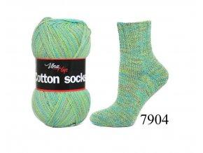 Ponožková příze Vlna-Hep Cotton Sock 7904, 100g