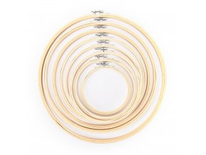 13 34CM 8 Size Bamboo Frame Embroidery Hoop Ring DIY Needlecraft Cross Stitch Machine Round Loop