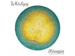 Scheepjes Whirligig, 203 TEAL TO YELLOW, 1x450g
