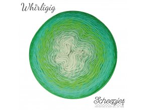 Scheepjes Whirligig, 207 GREEN TO BLUE, 1x450g