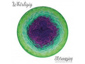 Scheepjes Whirligig, 208 GREEN TO PURPLE, 1x450g