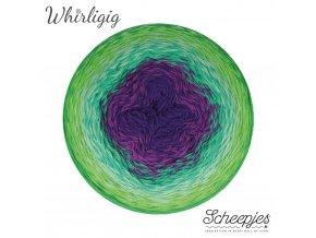 Scheepjes Whirligig, 208 GREEN TO PURPLE, 1x450g