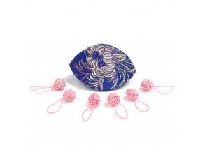 HiyaHiya růžová značítka (sada - 6ks) v krabičce z brokátu