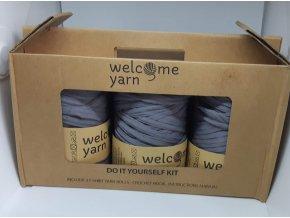 Špagáty Welcome yarn sada šedá