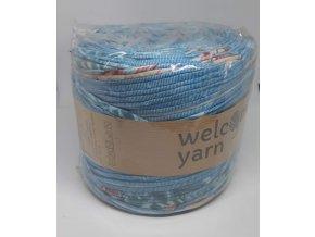 Špagáty Welcome yarn modrý květ