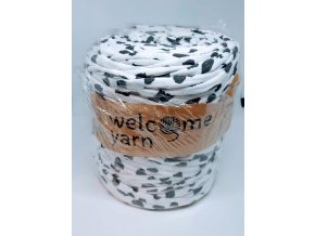 Špagáty Welcome yarn šedo-bílá