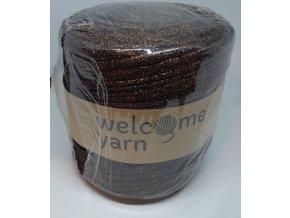 Špagáty Welcome yarn tmavo hnědo-bronzová