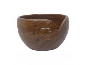 Dřevěná miska na klubka palisandr
