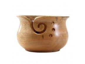 Dřevěná miska na klubka  dřevo lak