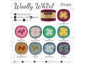 Příze Scheepjes Woolly Whirl 475 MELTING MINT CENTRE 215g