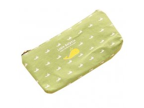 Taštička na pomůcky pro pletení a háčkování zelená