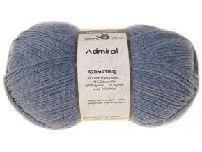 Příze Admiral 4653M jeans mottled 75% vlna, 25% polyamid ponožková příze