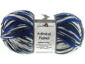 Příze Admiral Flakes 2026fl ich mach mal blau 75% vlna, 25% polyamid ponožková příze 100g