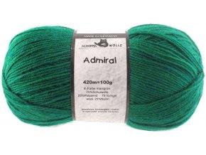 Příze Admiral R Druck 6601 smaragdová ponožková 100g -