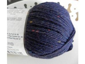 Příze Admiral tweed bunt 3593 inkoust ponožková 100g