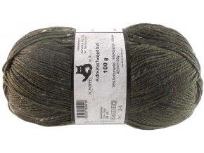 Příze Admiral tweed bunt 6271 olivová ponožková 100g -
