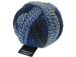 Zauberball®Stärke 6 2099_ Pause in Blau 75% vlna, 25% polyamid ponožková příze