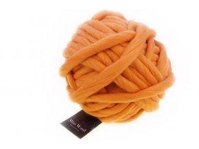 Příze Miss Wool 0701 Papaya 100% merino 500g