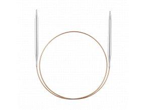 Jehlice kruhové Addi Premium Silber 5,00mm/80cm