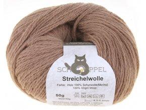 Příze Streichelwolle 8173 Holz 100% merino