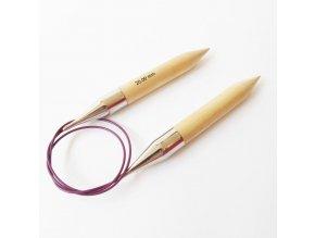 Jehlice kruhové Knit Pro Basix 30,00 dřevo různé délky lanka