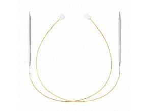 Jehlice kruhové Addi Premium Gold 4,00mm/100cm