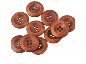 Hoomall 50PCs Brown Wooden Buttons 20mm 23mm 30mm Natural Color Buttons For Coat Scrapbooking Sewing DIY
