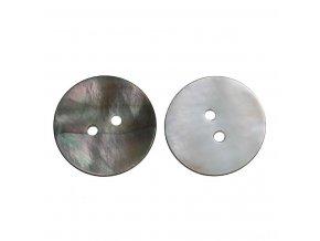 Knoflík z přírodní pravé perleti 2-dírky 20mm