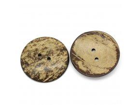 Knoflík přírodní z kokosové skořápky 2-dírkový 5cm -