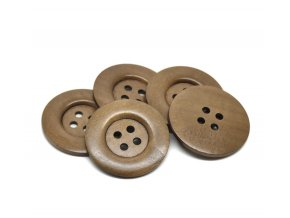 Hoomall Decorative Buttons 10PCs Coffee 4 Holds Big Wood Sewing Buttons for Sweater Overcoat Clothing 5cm
