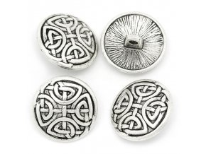 Hoomall Brand 30PCs Vintage Sewing Buttons Pattern Carved Silver Tone Round Sewing Accessories 17mm