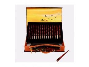 Knit Pro Symfonie The Golden Light sada šroubovací kruhových jehlic 3,5 - 8,0mm