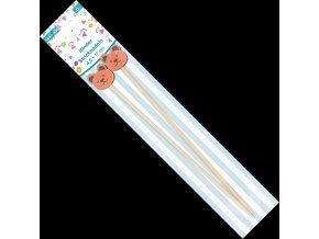 1442 400 jehlice dlouhe detske bambus 4mm 17cm