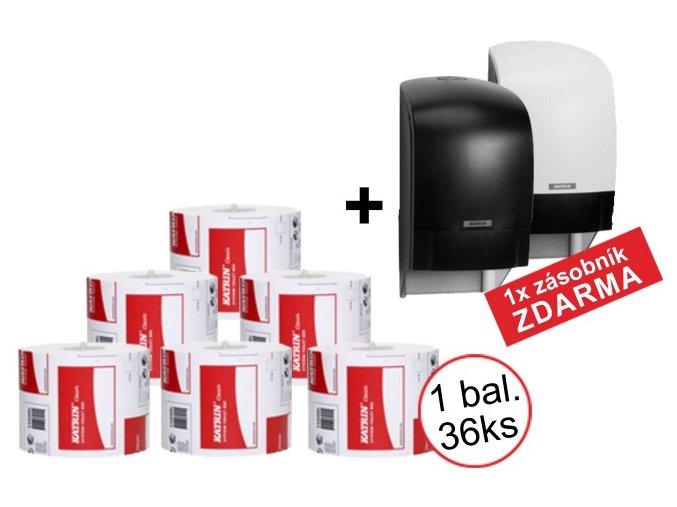 KATRIN SYSTEM CLASSIC toaletní papír ECO - 1x balení + zásobník ZDARMA