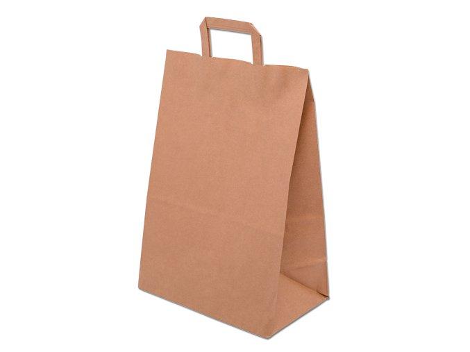 Taška papírová 220x100x280mm hnědá