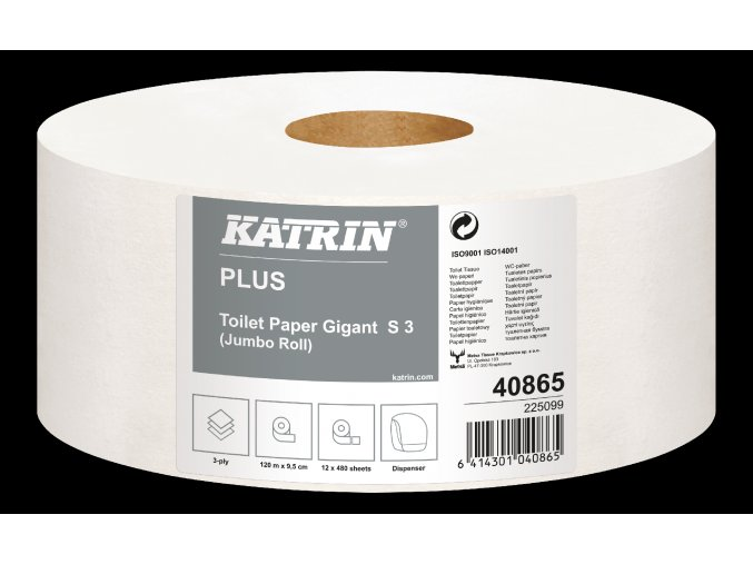 40865 KATRIN PLUS TOILET PAPER GIGANT S3