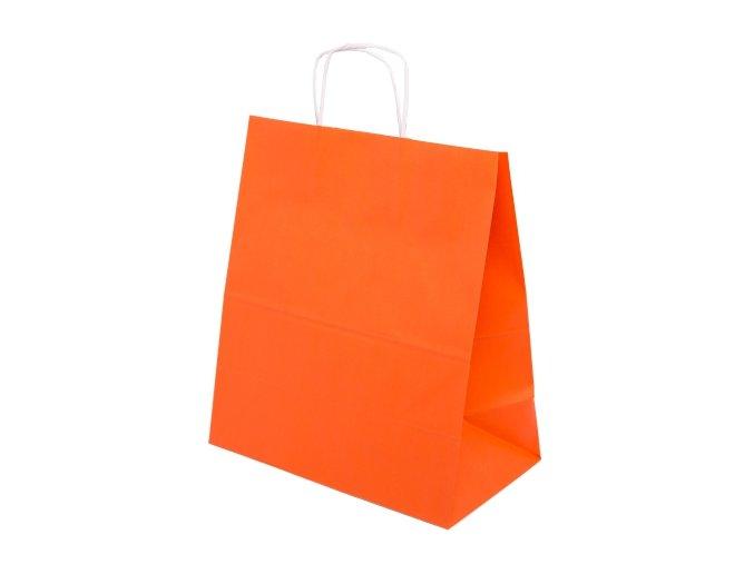 Eko barevná papírová taška 305x170x340mm - oranžová