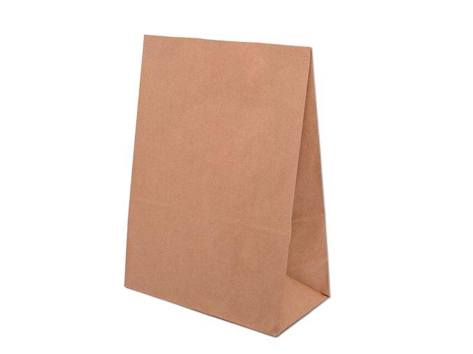 Eko Papírová taška bez uch 12 x 9,5 x 32,5 cm - přírodní