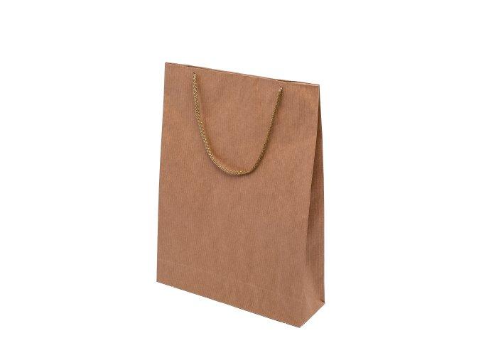 Eko papírová taška  30 x 10 x 40 cm - přírodní