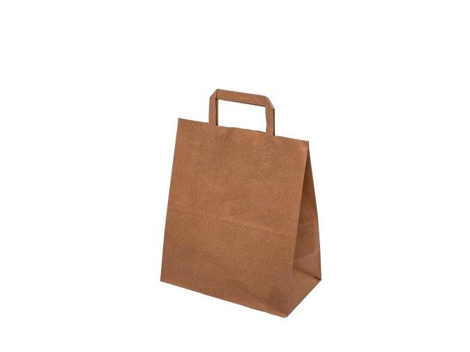 Eko papírové tašky 260x120x350mm - hnědé