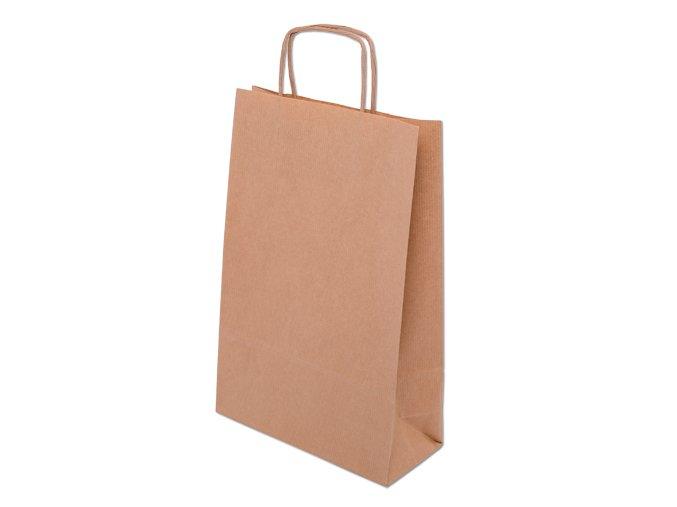 Eko papírová taška 26 x 12 x 35 cm - přírodní