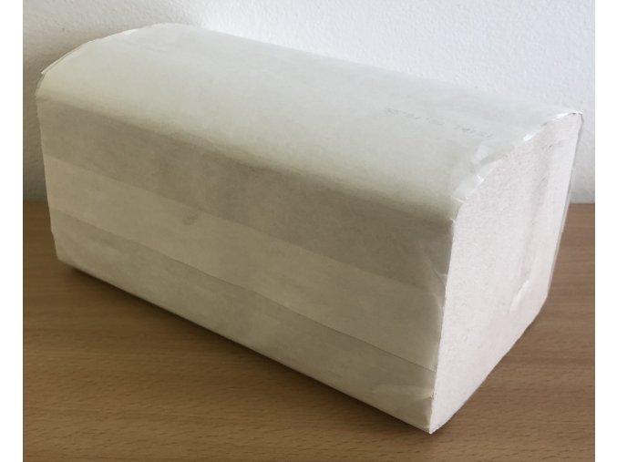Ručníky papírové skládané ZZ bílé dvouvrstvé