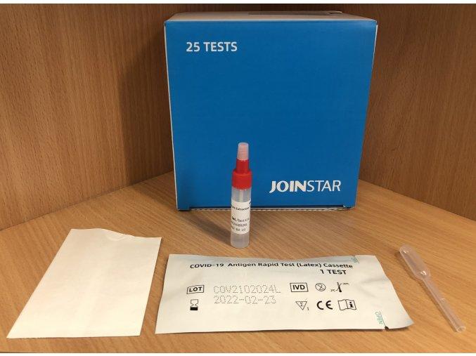 Antigenní testy na COVID JOINSTAR ze slin (cena za 25 testů)