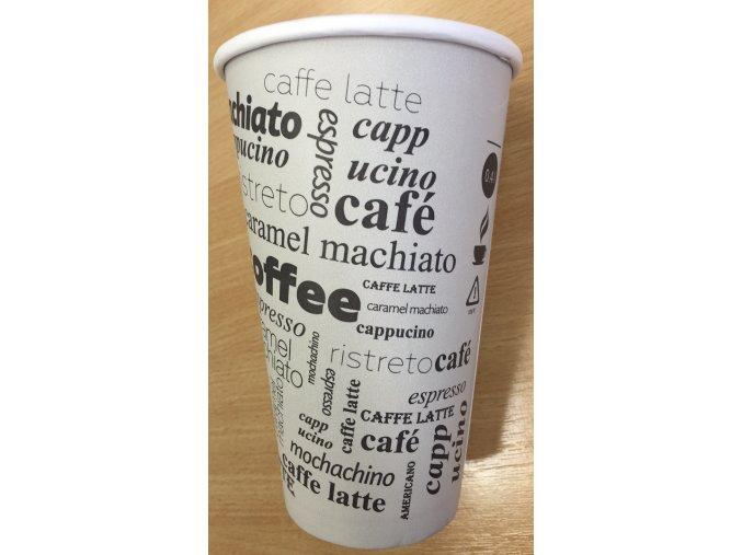 Kelímek na kávu COFFE TO GO 400ml - Papírový (cena za 50ks)