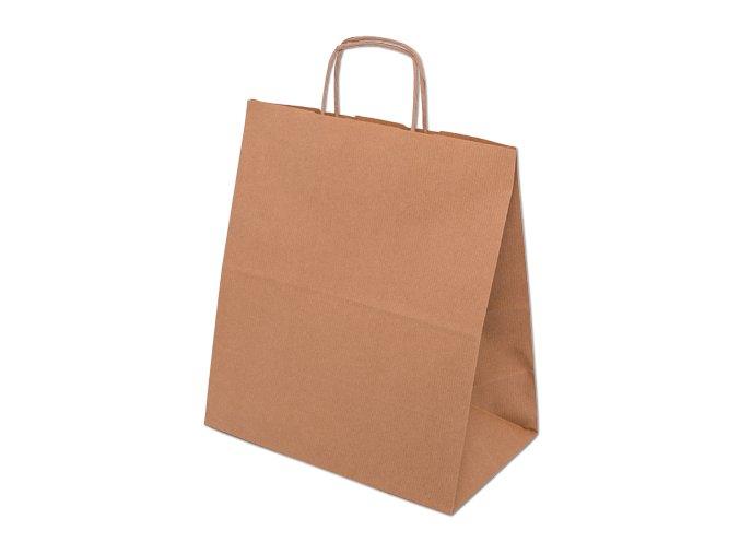 Papírová eko taška 30,5 x 17 x 34 cm - přírodní